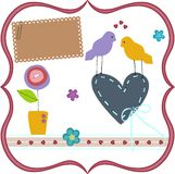 Карточка влюбленности Стоковая Фотография
