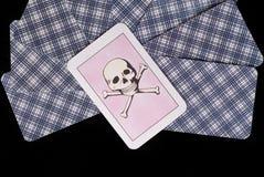 карточка выбирая смерть Стоковое Фото