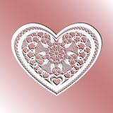 Карточка вырезывания Панель вектора сердца отрезка лазера Силуэт w выреза бесплатная иллюстрация