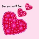Карточка влюбленности Стоковое Фото
