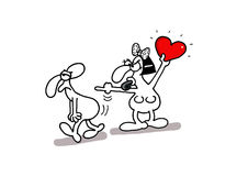 Карточка влюбленности Стоковые Фото