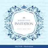 Карточка год сбора винограда с конструкцией флористического орнамента. Стоковые Изображения RF