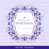 Карточка год сбора винограда с конструкцией флористического орнамента. Стоковая Фотография