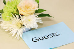 Карточка гостя с цветками Стоковые Изображения