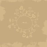 Карточка года сбора винограда Брайна Стоковая Фотография RF