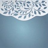 Карточка голубого приглашения милая Стоковое Фото