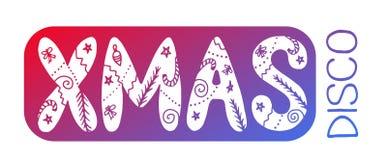 Карточка ДИСКО XMAS Стоковое Изображение