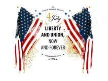 Карточка Дня независимости стоковое изображение