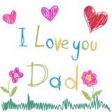 Карточка Дня отца Стоковое Фото
