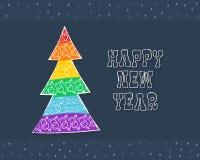 Карточка дерева Нового Года флага гей-парада Стоковые Фотографии RF