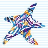 Карточка лета морских звёзд Стоковое Изображение