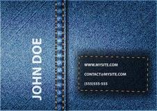 Карточка джинсов Стоковые Фото