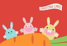 Карточка зайцев Стоковые Фото