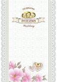 карточка звенит венчание Стоковые Изображения