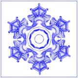 Карточка зимы снежинки низкая поли Бесплатная Иллюстрация