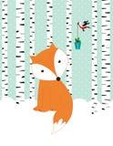 Карточка зимы Стоковое Изображение RF