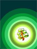 карточка идет зеленый шаблон Стоковая Фотография