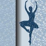 Карточка дизайна балета Иллюстрация вектора
