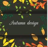 Карточка дизайна листьев Иллюстрация вектора