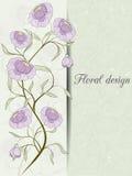 Карточка дизайна цветка Иллюстрация вектора