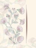Карточка дизайна цветка Иллюстрация штока