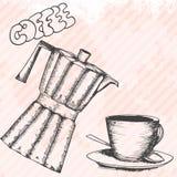 Карточка дизайна Breakfasrt ретро нарисованная рукой Стоковые Фото