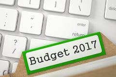 Карточка индекса с бюджетом 2017 3d Стоковая Фотография