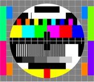 Карточка испытания телевидения Стоковое Фото