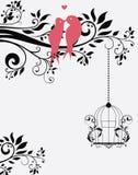 Карточка или приглашение свадьбы Стоковое Изображение