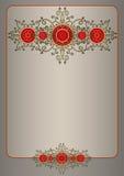 Карточка или сертификат шаблона Стоковые Фото