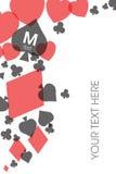 Карточка 4 костюмов карточки Стоковая Фотография