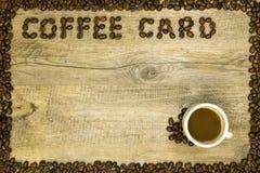 Карточка кофе Стоковые Изображения RF