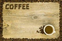 Карточка кофе Стоковая Фотография RF
