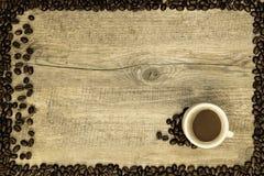 Карточка кофе Стоковые Фото