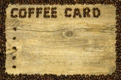 Карточка кофе Стоковое фото RF