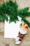 Карточка Кристмас пустая Стоковое Изображение RF