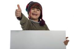 карточка мальчика Стоковая Фотография