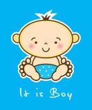 карточка мальчика бесплатная иллюстрация