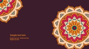 Карточка мандалы, рогулька иллюстрация штока