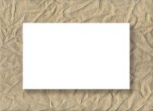 карточка мешковины Стоковые Фото