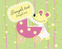 карточка младенца прибытия объявления Стоковые Фотографии RF