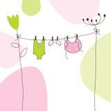 карточка младенца прибытия объявления бесплатная иллюстрация
