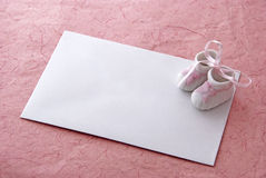 карточка младенца Стоковые Изображения RF