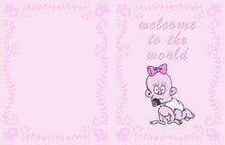 карточка младенца бесплатная иллюстрация