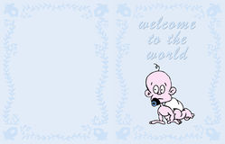 карточка младенца иллюстрация штока