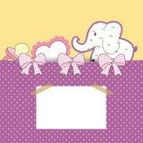 карточка младенца Стоковые Изображения