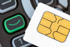 Карточка мобильного телефона и sim Стоковые Фото
