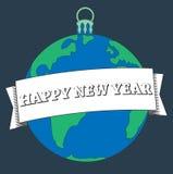 Карточка Нового Года иллюстрации счастливая Стоковое фото RF