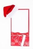 Карточка Нового Года с шляпой Санты стоковое изображение
