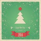Карточка 2014 Нового Года иллюстрация вектора